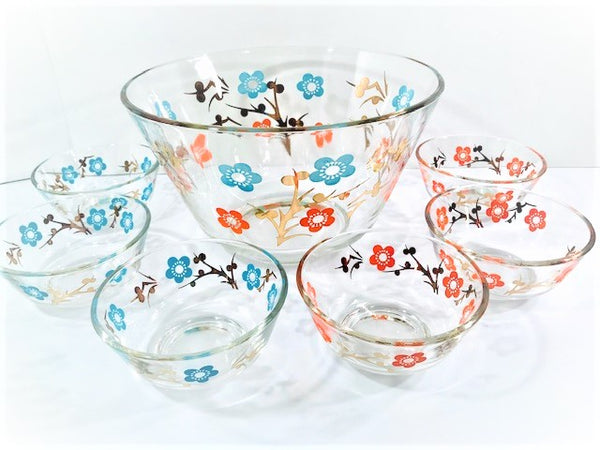 Retro Flower Power 7-Piece Salad Set