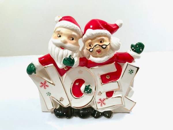 Vintage Dickson Mr. and Mrs. Claus Noel Planter