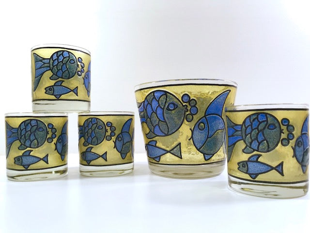Retro Fish 5-Piece Bar Set