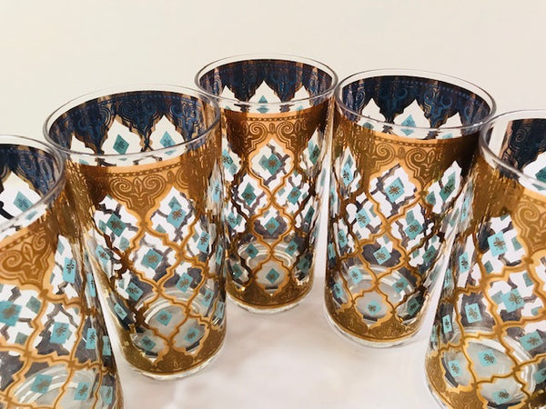 Culver Mid-Century Seville Highball Glasses (Set of 6)