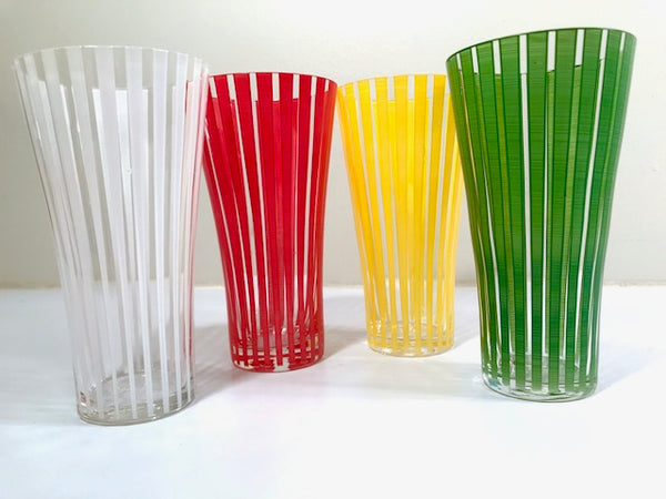Mid-Century Bengt Orurp Johansfors Art Glass Strict (Set of 4)
