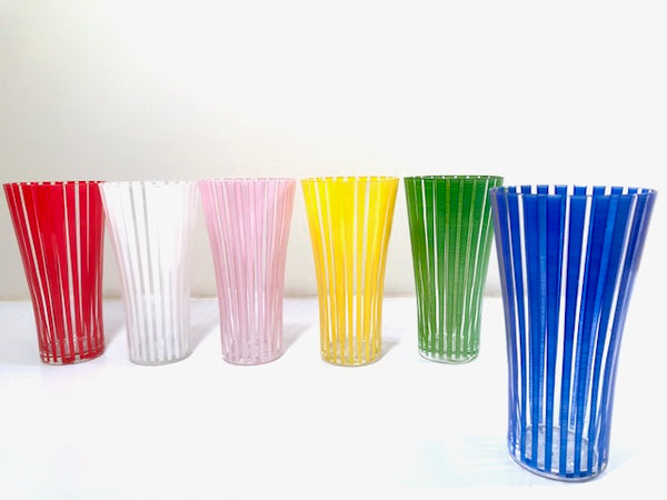 Mid-Century Bengt Orurp Johansfors Art Glass Strict (Set of 6)
