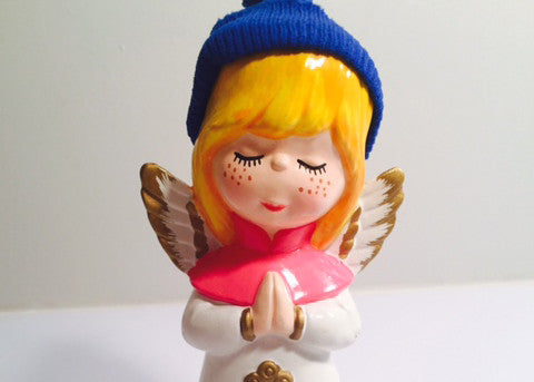 Angel With Stocking Cap Figure