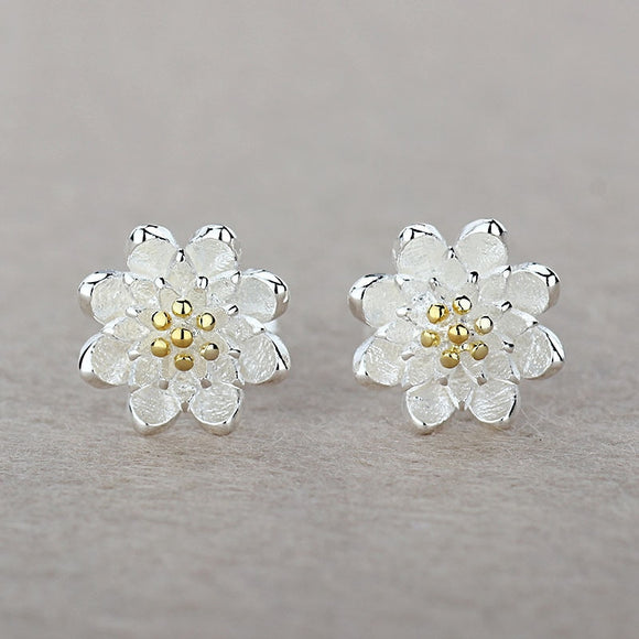 One Pair Lotus Earrings