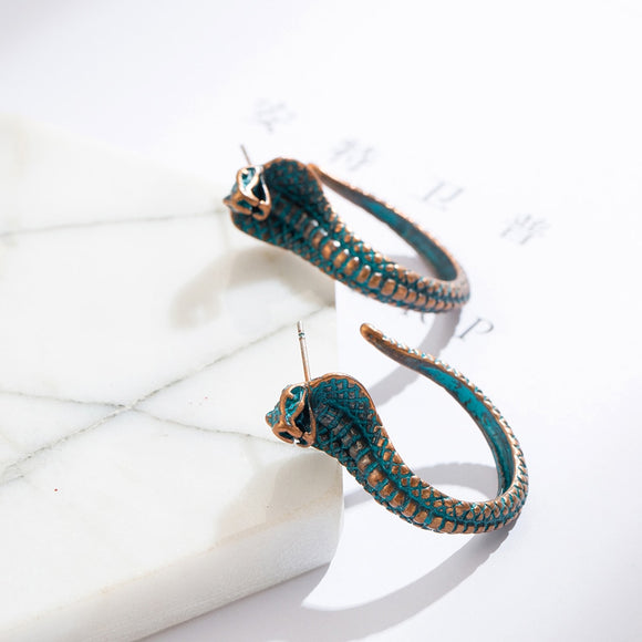 India Ethnic Cobra Dangle Drop Earrings