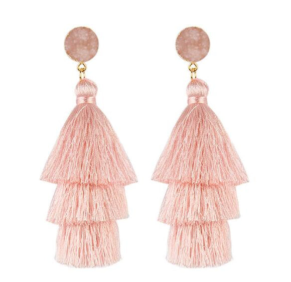Fashion bohemia long tassel earring multiple colors for women