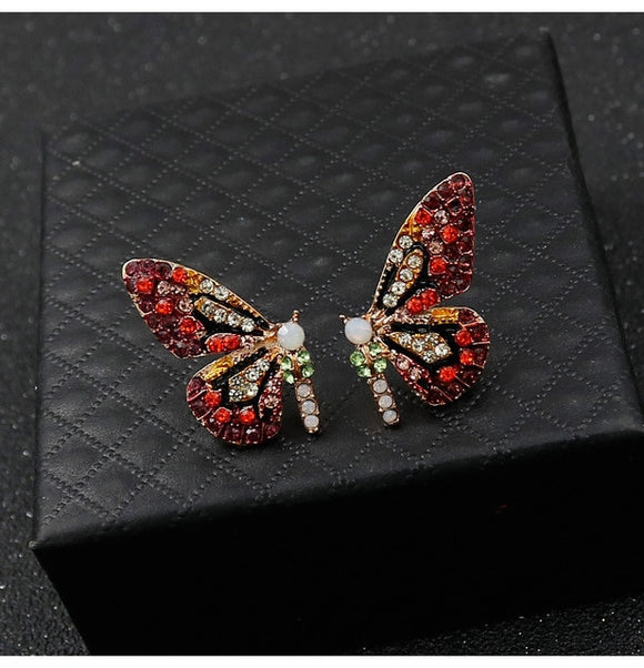 Fashion Cute Butterfly Ear Stud Earrings