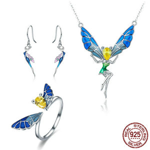 Forest Fairy Colorful Crystal Jewelry Set