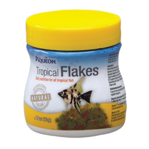 Aqueon Tropical Flaked Fish Food .45oz Jar
