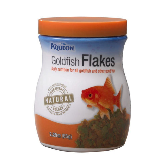 Aqueon Goldfish Flakes Fish Food 2.9oz Jar
