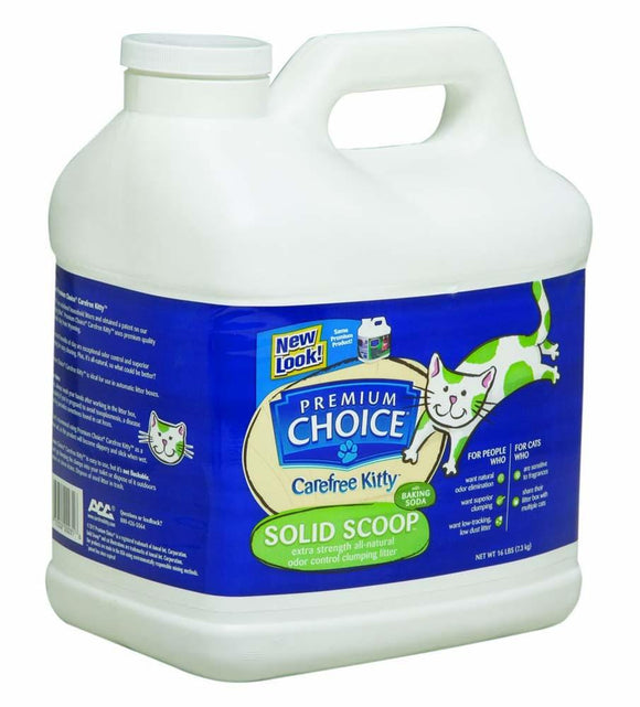 Premium Choice Carefree Kitty Unscented w/ Baking Soda Scoop Litter 16lb