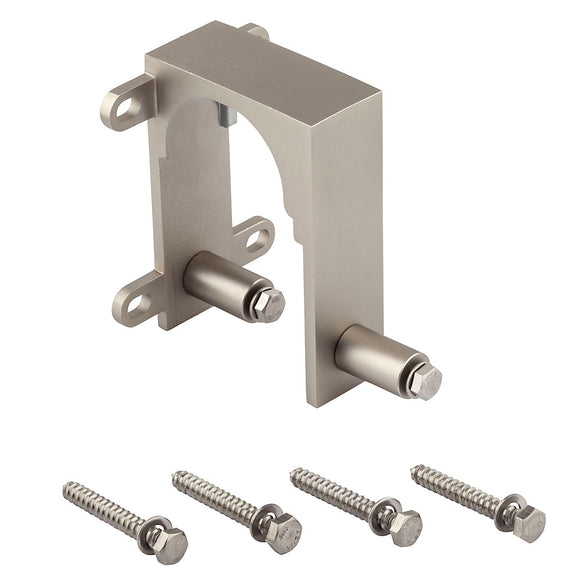 Satin Nickel Sliding Door Hardware Bypass Bracket
