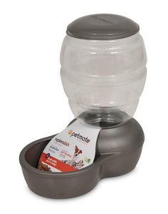 Petmate Replendish Feeder With Microban Mason Silver Small