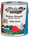 FENCEGUARD ACRYLIC LATEX FENCE & BARN PAINT WHITE