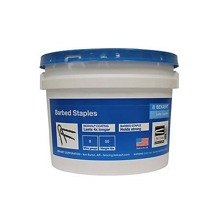 Bekaert Fence Staples Single Barb 1.25 in. 50 lb 187255