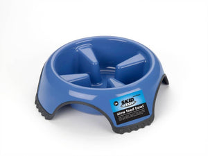 JW Skid Stop Slow Feed Dog Bowl Medium