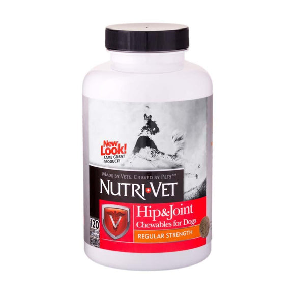 Nutri-Vet Hip & Joint Early Care Liver Chewables 120ct