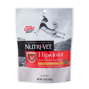 Nutri-Vet Hip & Joint Soft Chews Natural Smoke Flavor 5.3oz