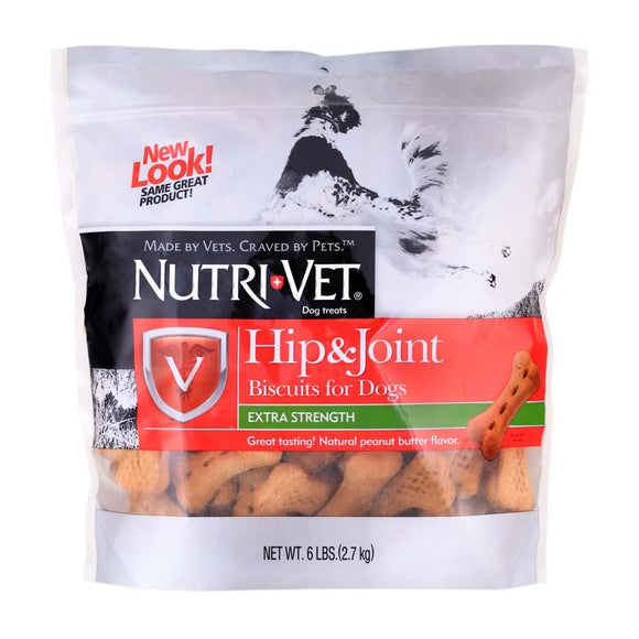 Nutri-Vet Hip & Joint Peanut Butter Wafers Large Dogs 6lb