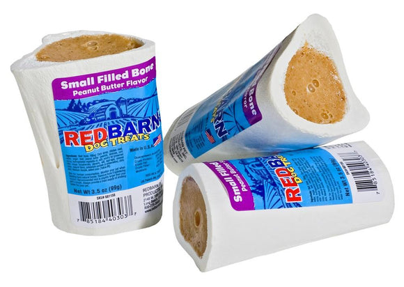 Redbarn Filled Bone Peanut Butter Individual 1 count