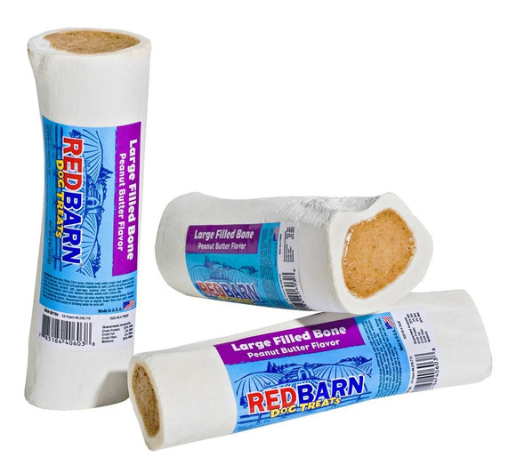 Redbarn Filled Bone Peanut Butter Large Individual 1 count