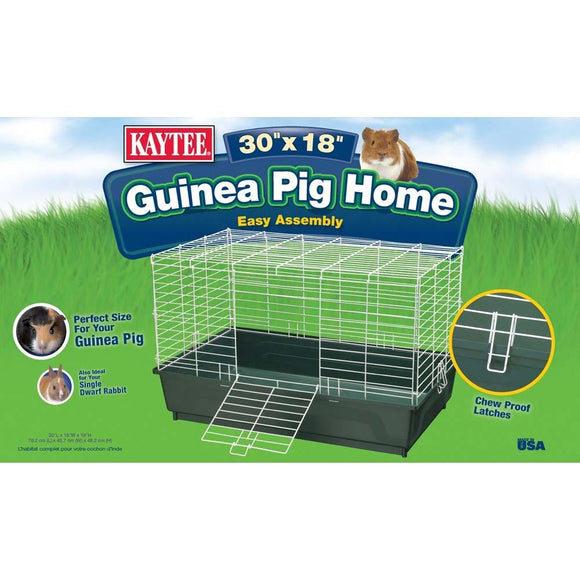 Kaytee My First Home Guinea Pig Single Pack Home Green Large