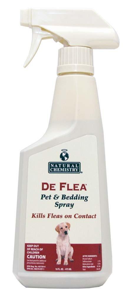 Natural Chemistry Deflea Pet & Bedding Spray For Dogs 16oz