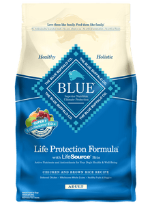 Blue Buffalo Life protection dry dog food, chicken and brown rice