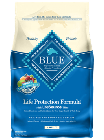BLUE BUFFALO ADULT DOG FOOD-CHICKEN & BROWN RICE (CALL FOR PRICE)