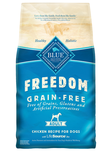 BLUE BUFFALO ADULT DOG FOOD-GRAIN FREE CHICKEN