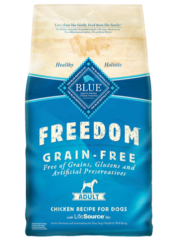 BLUE BUFFALO ADULT DOG FOOD-GRAIN FREE CHICKEN (CALL FOR PRICE)