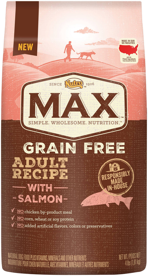 NUTRO MAX GRAIN FREE ADULT RECIPE WITH SALMON