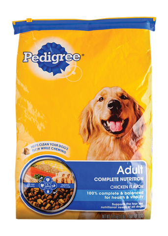 PEDIGREE  ADULT DOG FOOD CHICKEN FLAVOR (CALL FOR PRICE)