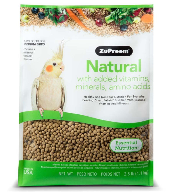 ZuPreem Natural Cockatiels 2.5lb