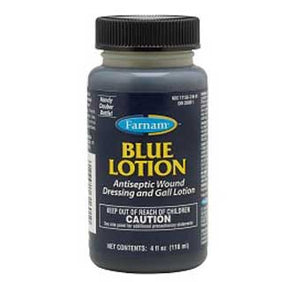 Blue Lotion Antiseptic Wound Dressing and Gall Lotion 4 oz