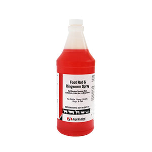 AgriLabs Foot Rot and Ringworm Spray Benzalkonium Chloride 32 oz