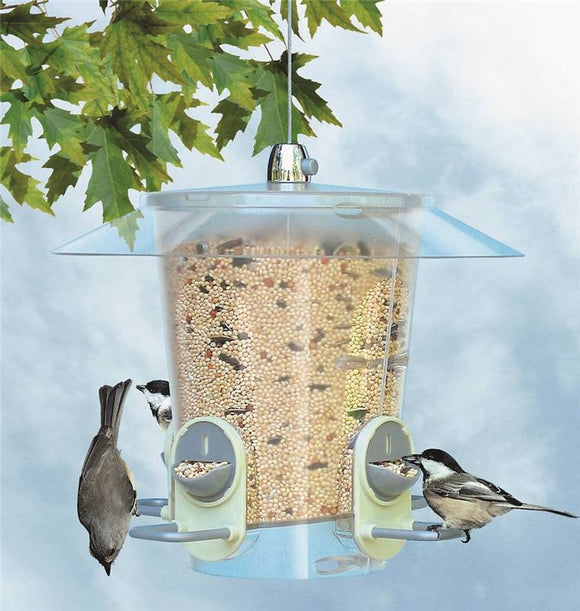 Perky Pet 2 In 1 Hopper Metro Bird Feeder