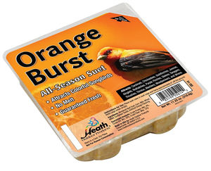 Heath Outdoor DD-14 All Season Orange Burst Suet Cake 11.25 oz