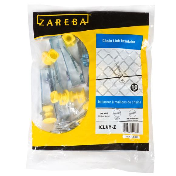 Zareba Chain Link Insulator, yellow