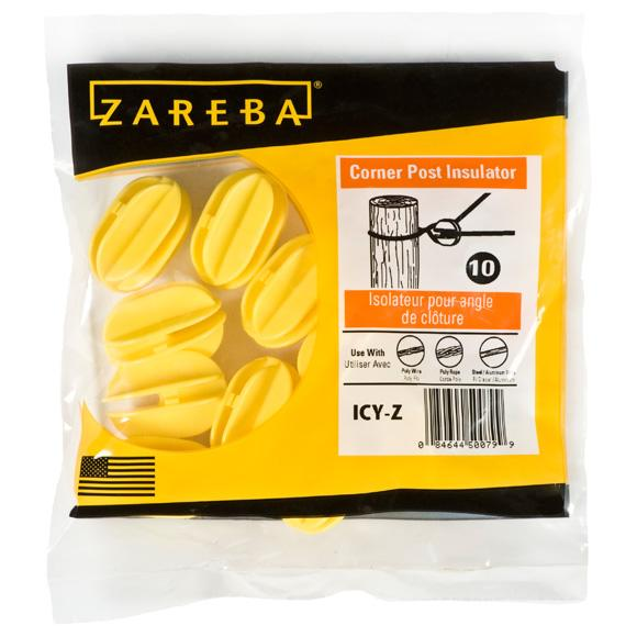 Zareba Heavy-Duty Corner Insulator - Yellow