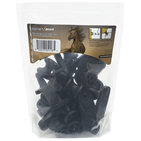 ElectroBraid Roller Post Insulators - Black