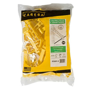 "Zareba T-Post 5"" Extender Insulator, Yellow"