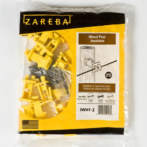 Zareba Yellow Wood Post Insulator w/Nails