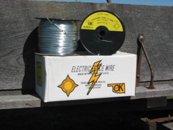 OK Brand Electric Fence Wire 14ga x 1/2 mile