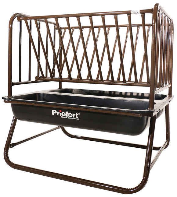 PRIEFERT PASTURE HORSE FEEDER WITH HAY RACK