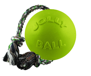 JOLLY BALL ROMP-N-ROLL 4.5IN GREEN APPLE DOG TOY