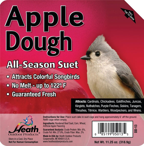 HEATH ALL SEASON APPLE DOUGH SUET CAKE 11.5 OZ