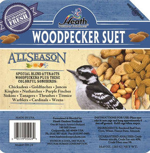 Heath Outdoor DD-24 All Season Woodpecker Blend Suet Cake