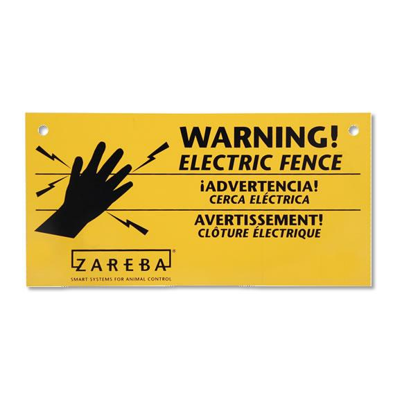 Zareba Electric Fence Warning Signs, 3pk
