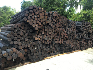 4 - 5 x 6.5 CREOSOTE FENCE POSTS